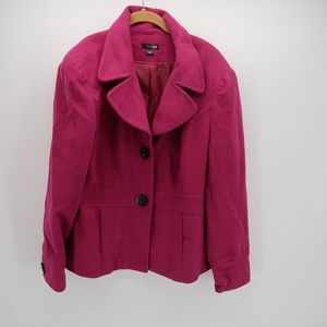 East 5th Collared Fleece Two Button Blazer Jacket